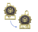 NYPD New York Detective Police Badge Replica Movie Props *5 Digit Custom Number Only*