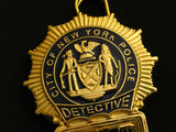 NYPD New York Police Detective Badge Solid Copper Replica Movie Props With Number 1918