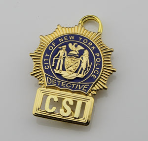 NYPD New York Police CSI Detective Badge Replica Cosplay Movie Props