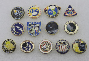 13 Pieces of NASA Apollo Space Travel 1,7,8,9,10,11,12,13,14,15,16,17 Lapel Pin Set