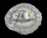 10 Stacks of $100 Dollars Full Print Prop Money New Style