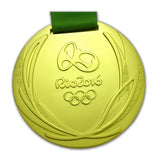 Rio 2016 Olympic Medals Gold Silver Bronze with Ribbons 1:1 Full Size Replica