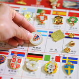 2018 FIFA Russia World Cup Soccer 32 Teams+Logo+Mascot Pin 34 Badges Set Gift Replica