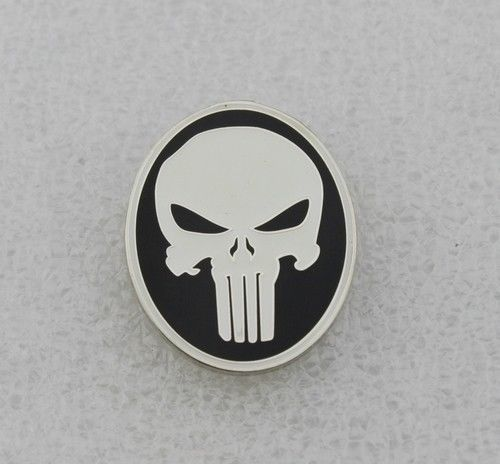 The Punisher Skull Lapel Pin Badge Movie Props