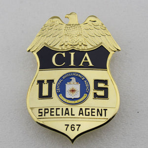 US CIA Special Agent Badge Solid Copper Replica Movie Props #767