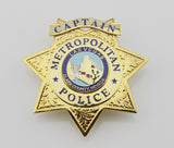 US Casino Las Vegas Captain Metropolitan Police Badge Solid Copper Replica Movie Props