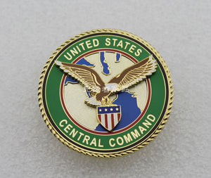 US Central Command Police Badge Solid Copper Brooch Pin