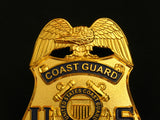 US Coast Guard Special Agent Badge Solid Copper Replica Movie Props