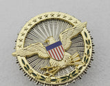 US DOD Department of Defense Eagle Badge Solid Copper Brooch Replica Movie Props