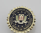 US FBI Mini Badge Solid Copper Brooch Pin Replica Movie Props