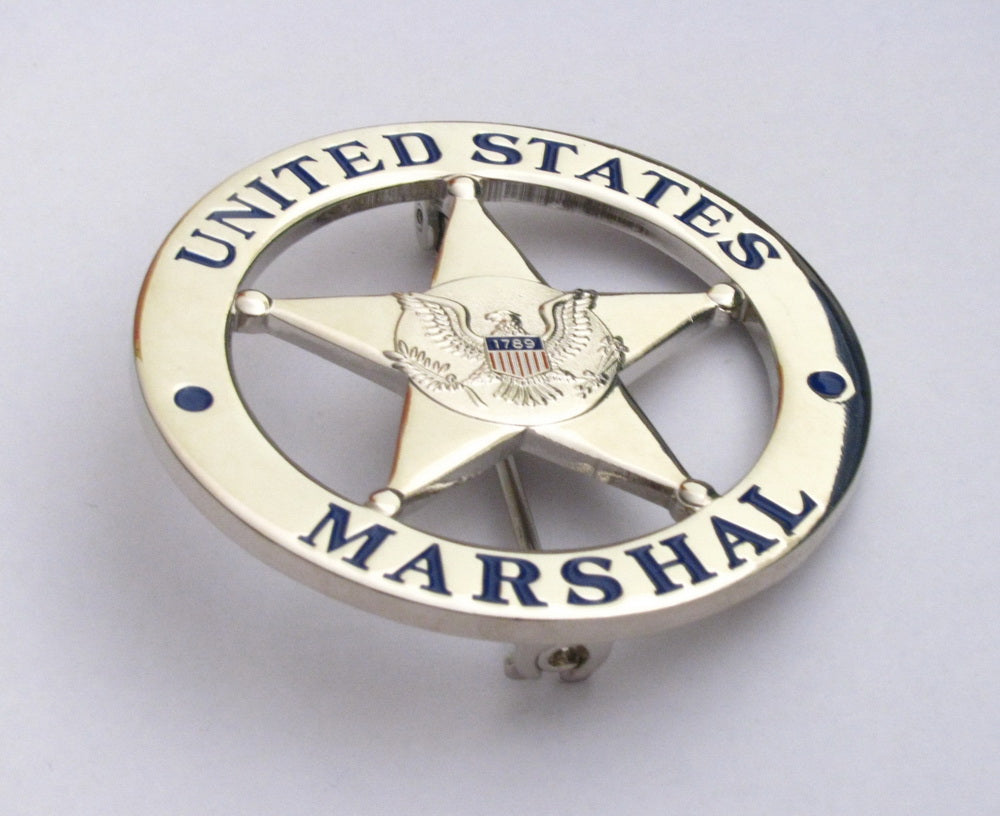 US Federal Court Law Enforcement MARSHAL Badge Solid Copper Replica Movie  Props