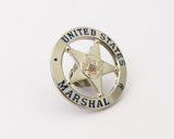 US Federal Marshal Mini Police Badge Solid Copper Replica Movie Props 25mm