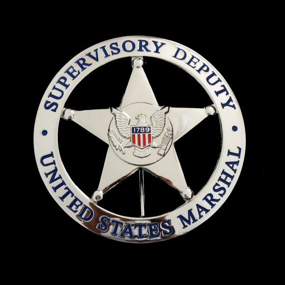 US Federal Court Law Enforcement Marshal Supervisory Deputy Badge Replica Movie Props