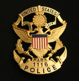 USPP United States Park Police Badge Solid Copper Replica Movie Props With Number 1116