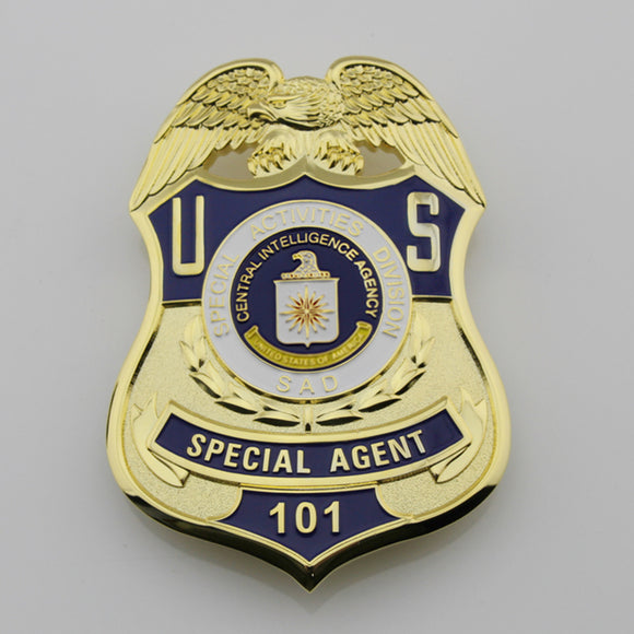 US SAD Special Agent Badge Solid Copper Replica Movie Props #101