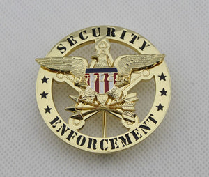 US Security Enforcement Badge Solid Copper Replica Movie Props