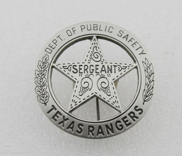 US Texas Rangers Sergeant Badge Replica Movie Props