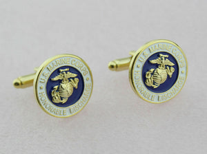 US Marine Corps Honorable Discharge USMC Cufflinks With Gift Box