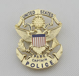 USPP United States Park Captain Police Badge Solid Copper Replica Movie Props