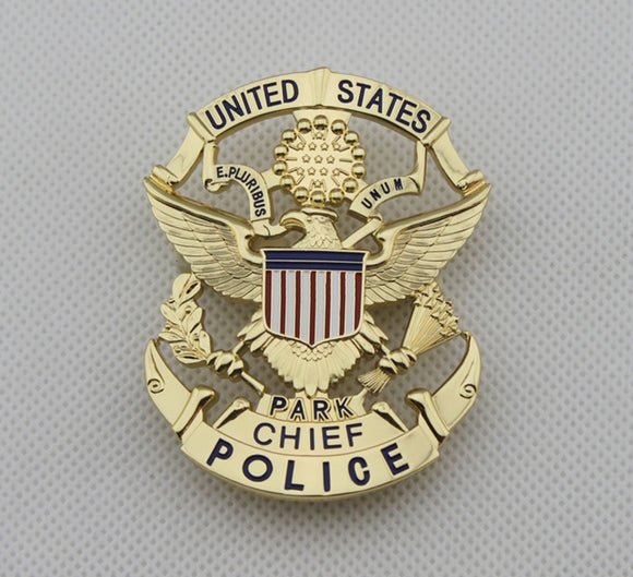 USPP United States Park Chief Police Badge Solid Copper Replica Movie Props