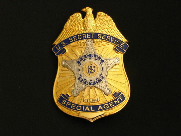 USSS U.S Secret Service Special Agent Badge Solid Copper Replica Movie Props
