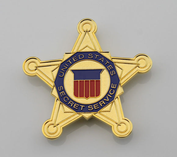 USSS US Secret Service Pentagram Badge Solid Copper Replica Movie Props