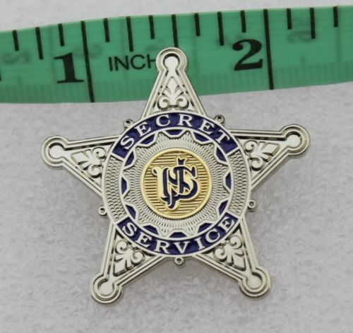USSS US Secret Service Badge Silver Star Mini Pin Movie Props