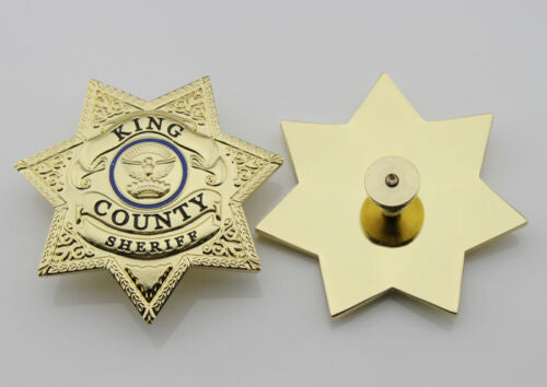 The Walking Dead King County Sheriff Badge Grimes Cap Badge Cosplay Movie Props