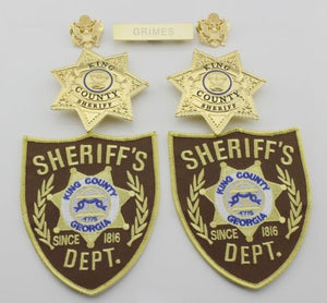 The Walking Dead King County Sheriff Badges Grimes Badges & Patches & Name Bar
