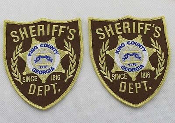 A Pair of The Walking Dead King County Sheriff DEPT. Patches