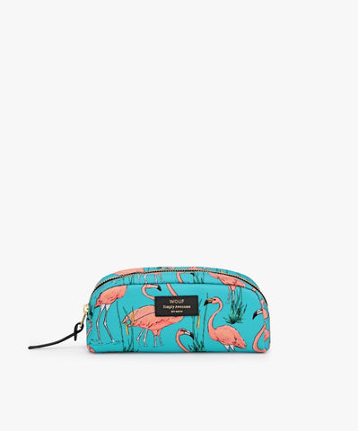 "-40% - LAST ONE!! WOUF ""PINK FLAMINGOS"" Small Beauty Bag"