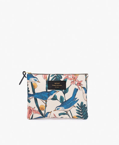 "-40% - LAST ONE!! WOUF ""BIRDIES"" Large Pouch Bag"