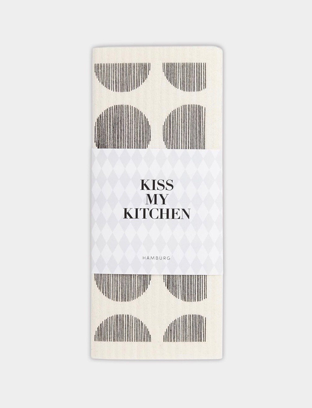 "kiss my kitchen Schwammtuch ""Dots white/black"""