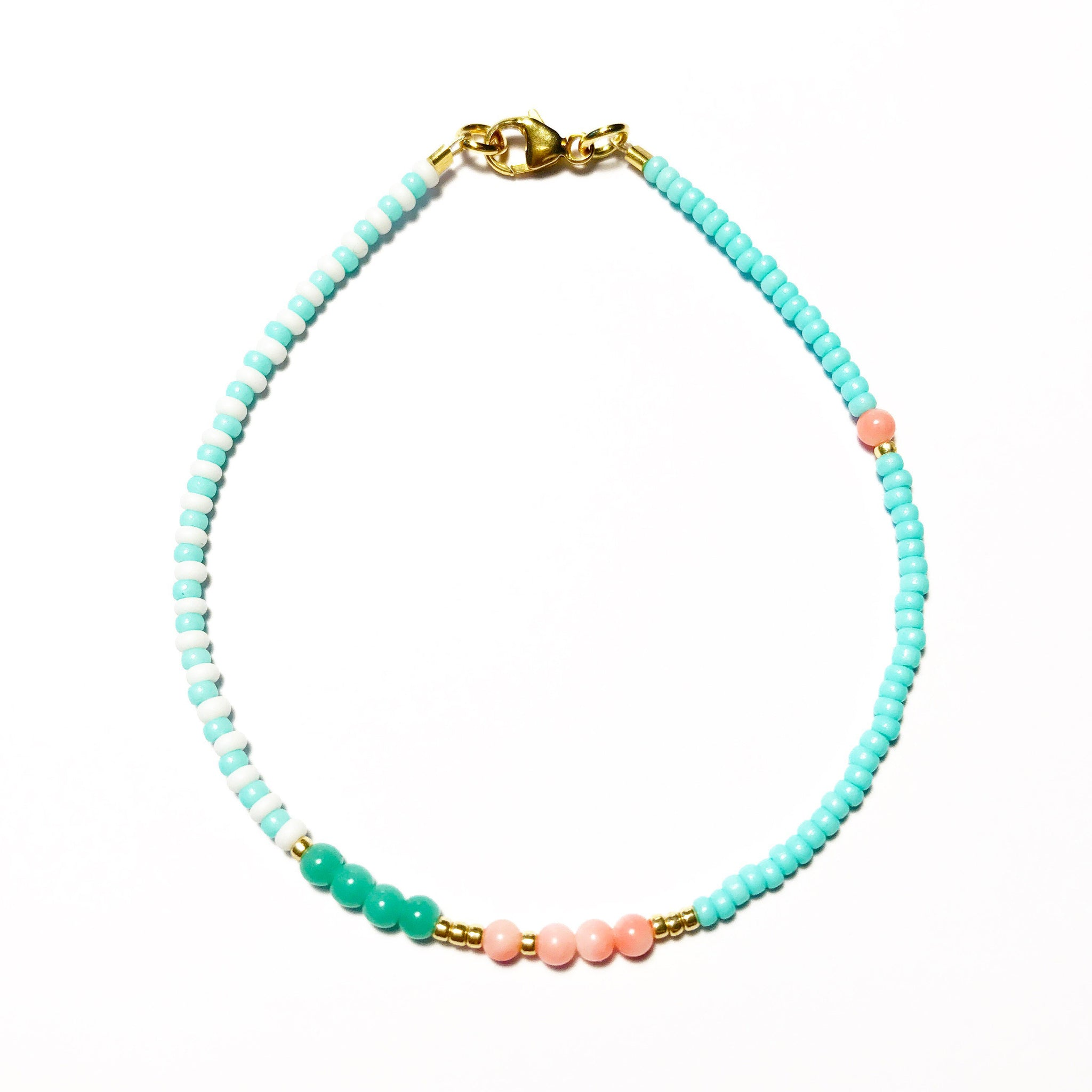 "Armband ""STRIPES coral"""