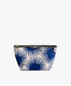 "WOUF ""BLUE PALMS"" BEAUTY BAG, Velvet / Samt"