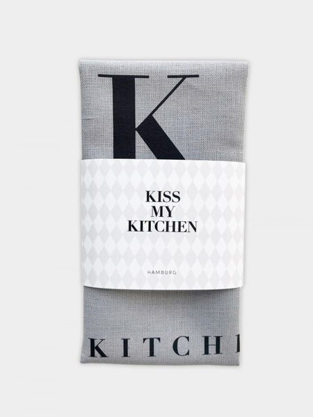 "kiss my kitchen ""Küchen-Handtuch"" grey/black"