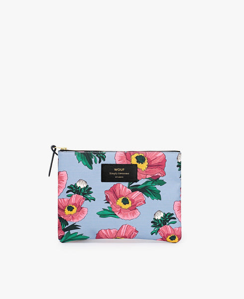 "-30% - WOUF ""FLOWERS"" Large Pouch Bag"