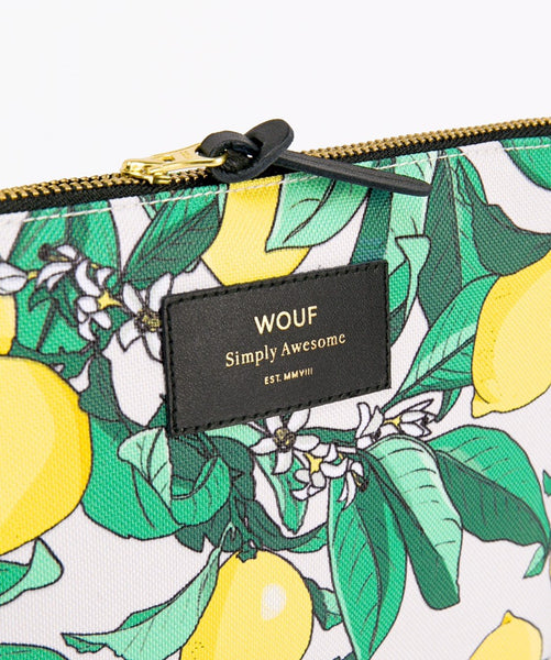 "WOUF ""LEMON"" Large Pouch Bag"