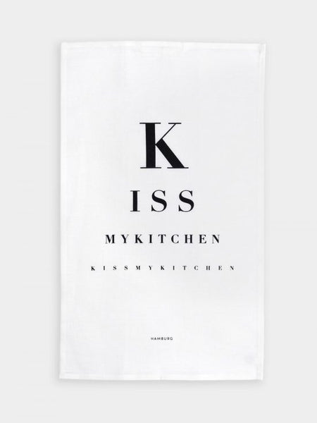 "kiss my kitchen ""Küchen-Handtuch"" white/black"