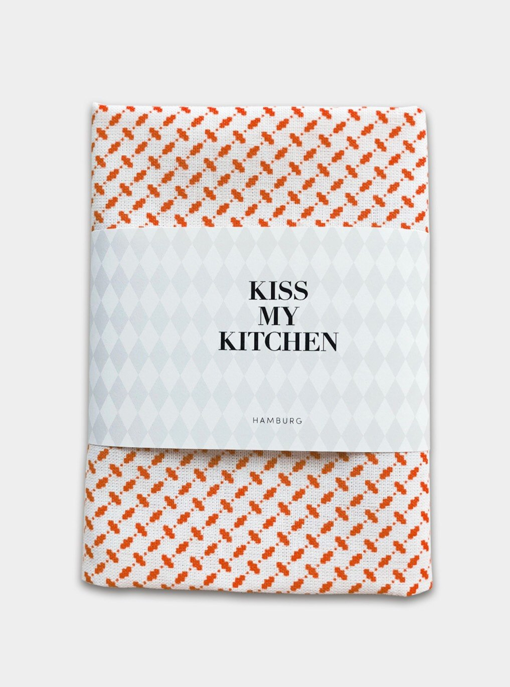 "kiss my kitchen Geschirrtuch ""Pali white/red"" mit Rand"