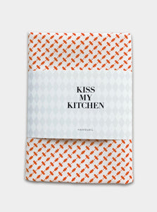 "-25% - kiss my kitchen Geschirrtuch ""Pali white/red"" mit Rand"