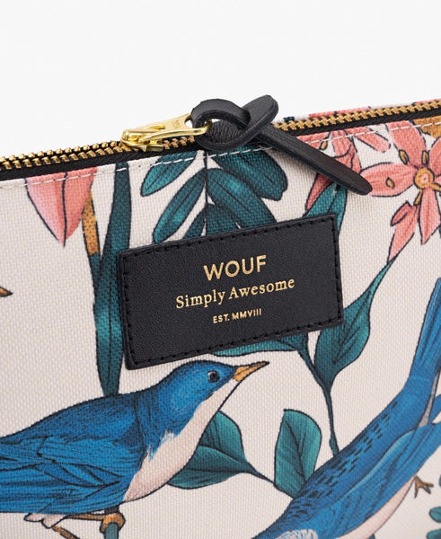 "WOUF ""BIRDIES"" Large Pouch Bag"
