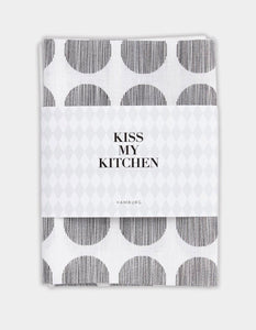 "-20% - kiss my kitchen Geschirrtuch ""Dots white/black"""