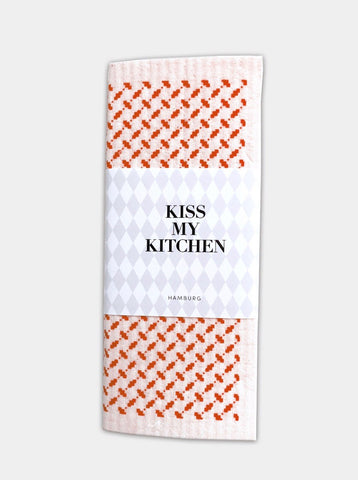 ✨NEU!! kiss my kitchen Schwammtuch Pali white/red""
