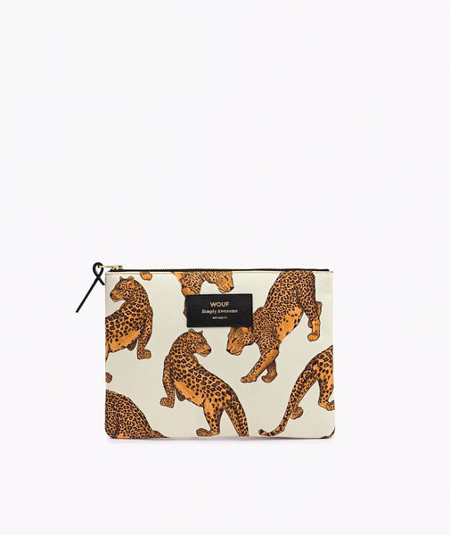 "WOUF ""LEOPARD"" Large Pouch Bag"
