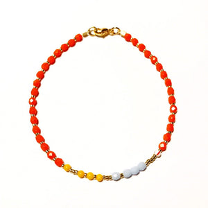 "NEU!! Armband ""GLAMOUR ORANGE"""