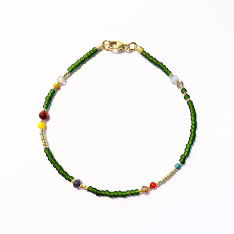 "LAST ONE!! Armband ""AUTUMN GREEN"""