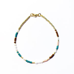 "LAST ONE!! Armband ""PEARLY PETROL"""