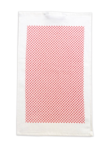 "kiss my kitchen Küchen- Handtuch ""Pali white/red"" - SOFT COTTON"
