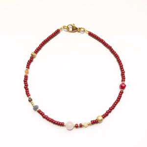 "-25% - NEU!! Armband ""Autumn Bordeaux"""